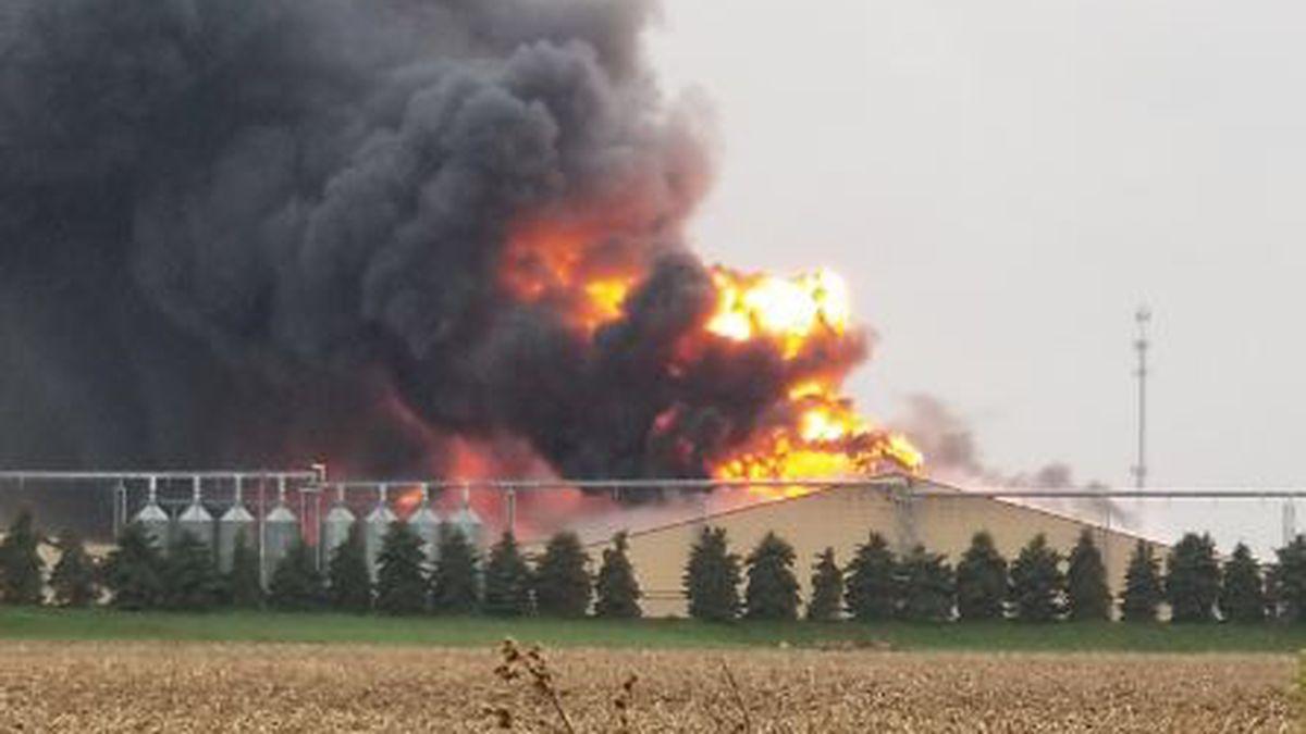 Fire on Portland Rd., near Ionia