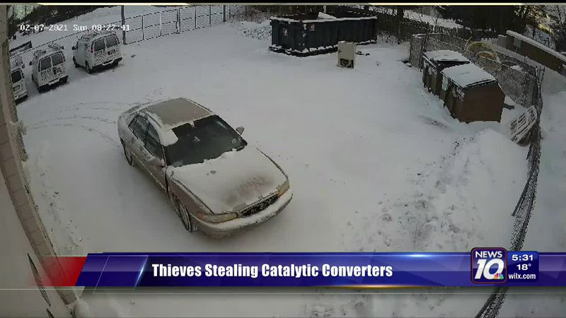 Thieves stealing catalytic converters