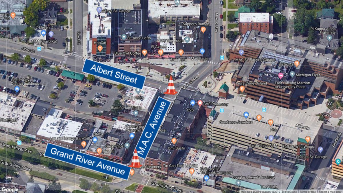 The city of East Lansing is closing M.A.C. Avenue from Grand River Avenue to Albert Avenue on Wednesday, June 12 for water main work. (Source: WILX)