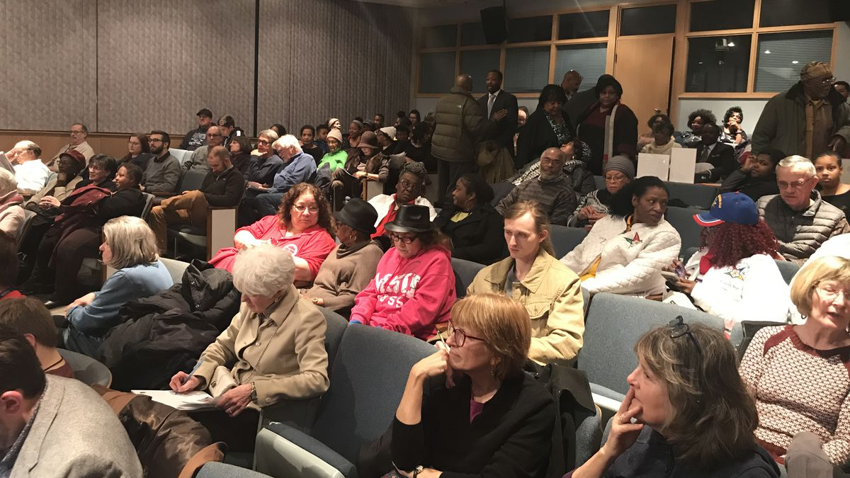 The Lansing Community showed their support for Director of Human Relations and Community Services Joan Jackson Johnson at Monday night's city council meeting. (Source: WILX)