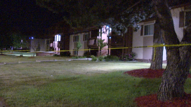 Lansing police respond to a shooting on Jolly Road early Wednesday morning.