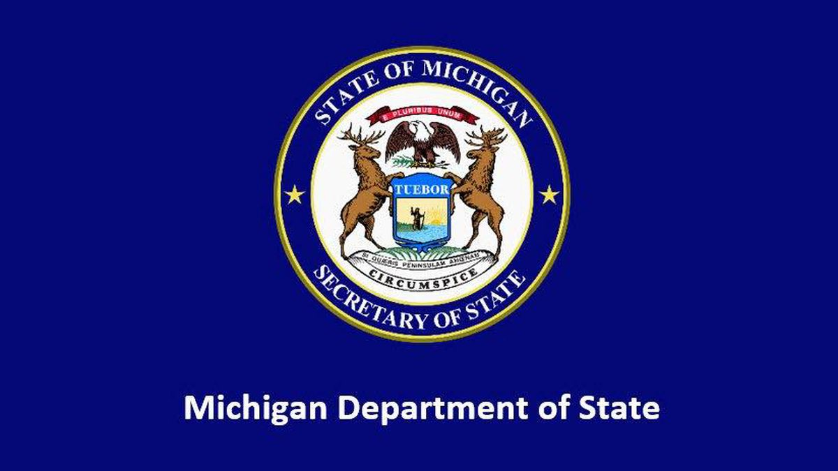 Michigan Secretary of State seal.