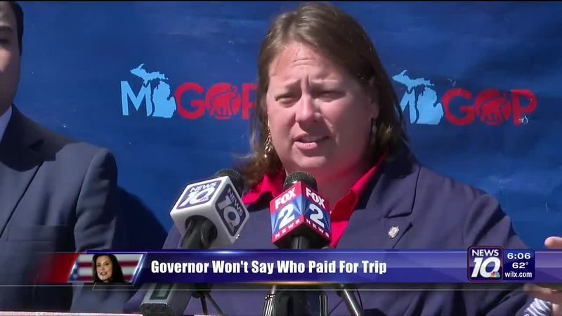 Governor won't say who paid for trip