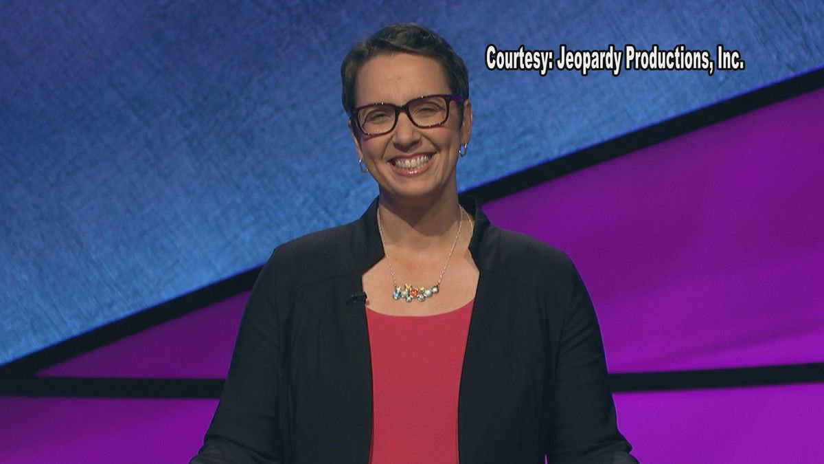 A Lansing woman has checked one thing off of her bucket list, being on Jeopardy. (Source: Jeopardy Productions Inc., Robin Miner-Swartz)