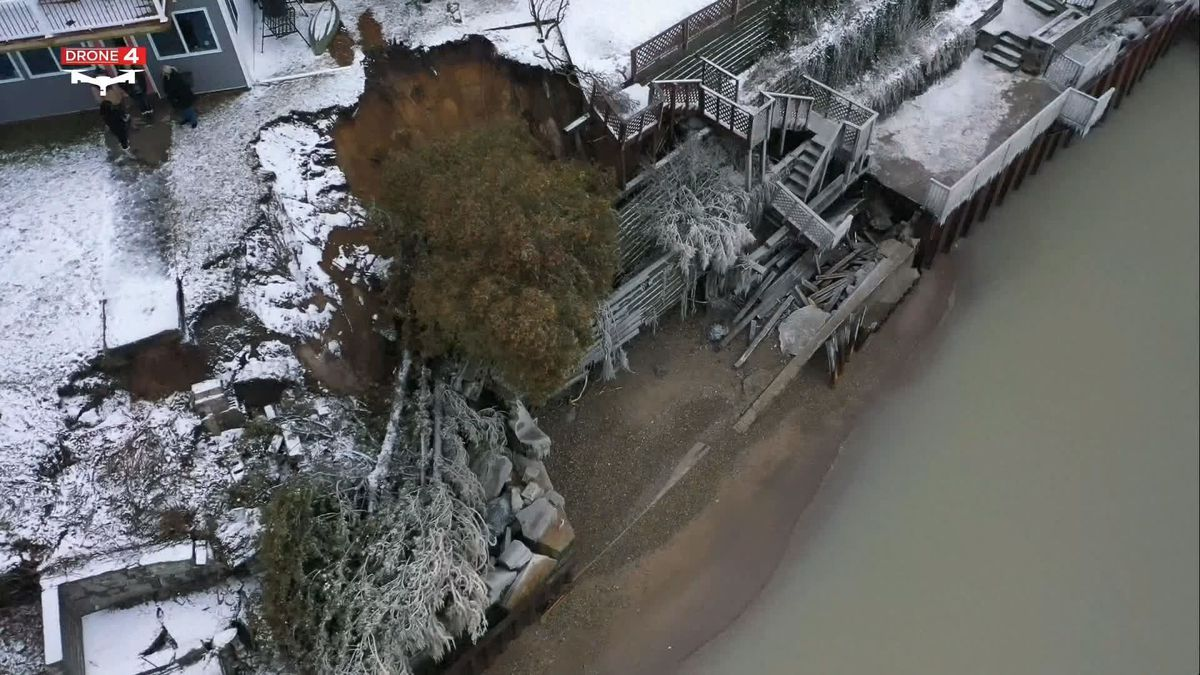 The powerful weekend storm pounded the shoreline, north of Detroit. (Source: WILX)