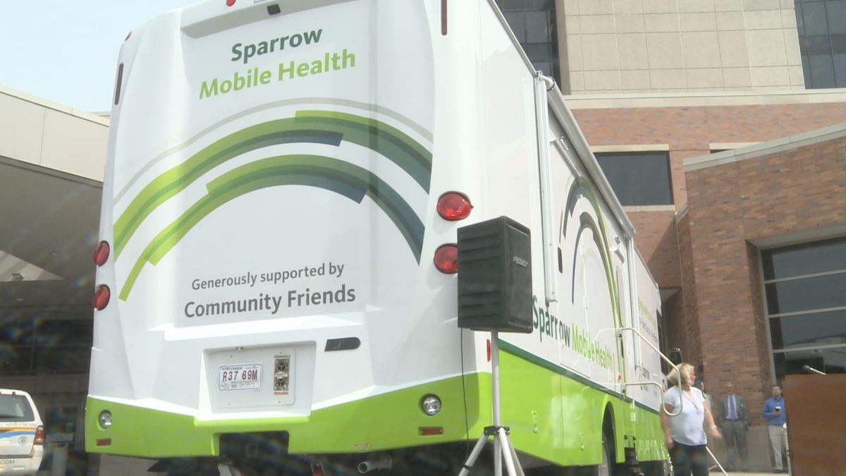 The new mobile health clinic sponsored by Sparrow Hospital and on display in Lansing for the public to tour on May 16, 2019.