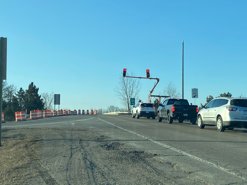 Traffic on Williamston Road over I-96 is being directed intermittently as MDOT crews inspect...