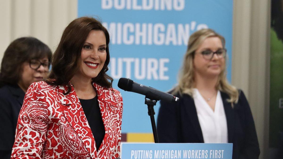 Gov. Gretchen Whitmer visited Grand Rapids to announce Michigan has secured a $10 million grand...