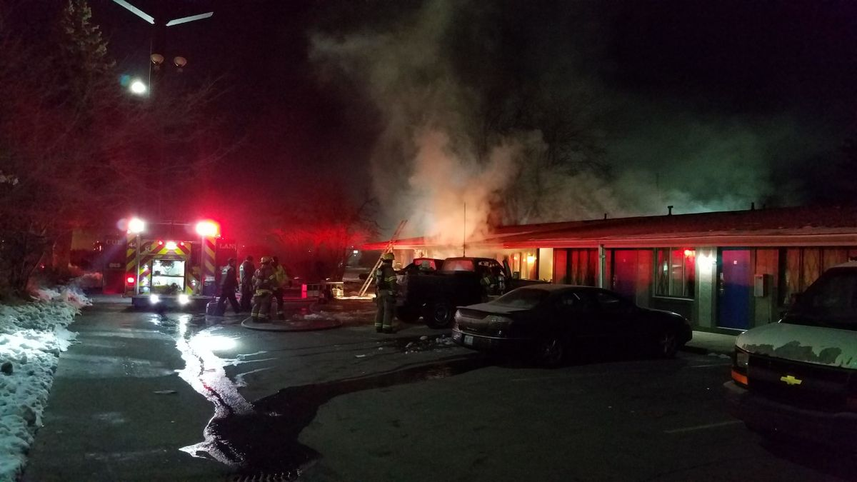 A fire broke out early Sunday morning at the America's Best Value Inn in Lansing.
