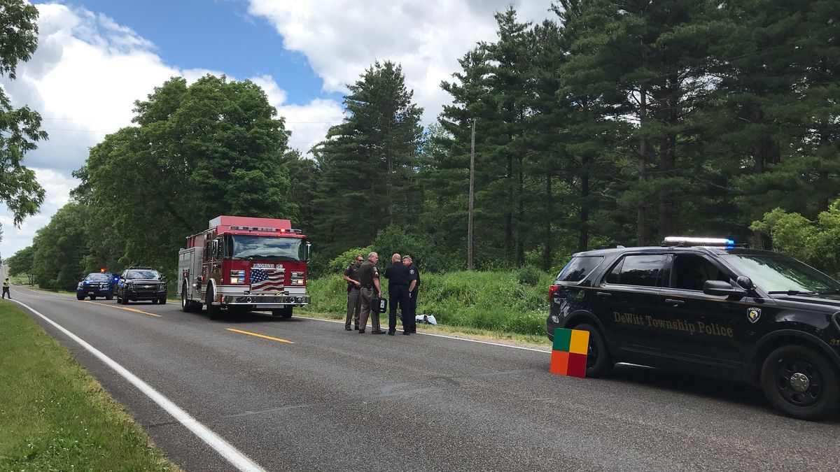 A 74-year-old man was hospitalized early Wednesday afternoon with serious injuries after he was struck by a vehicle on Clark Road near Chandler Road in DeWitt Township. (Source: WILX)