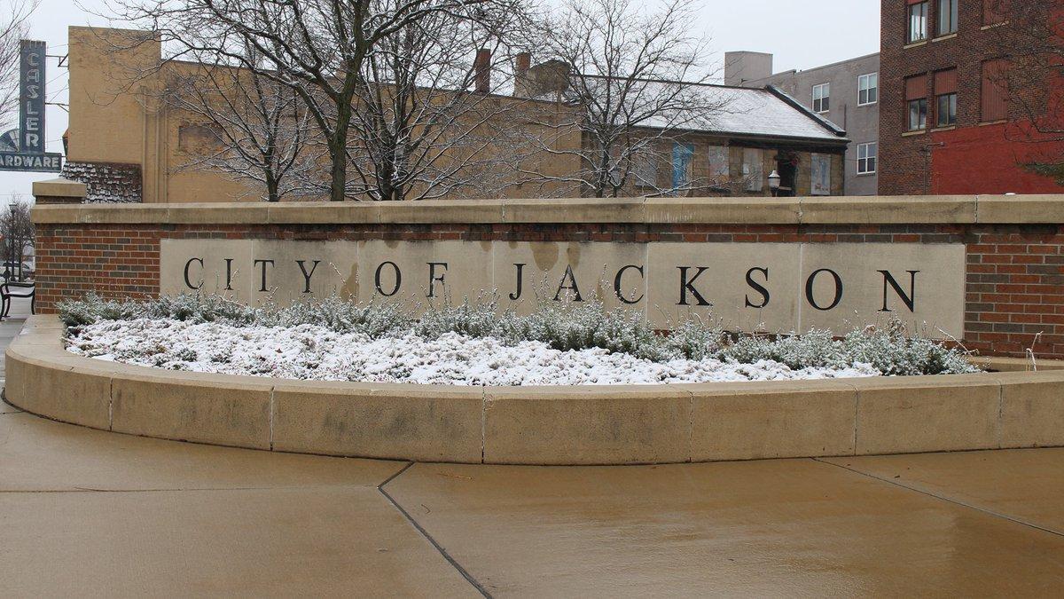 City of Jackson, MI sign