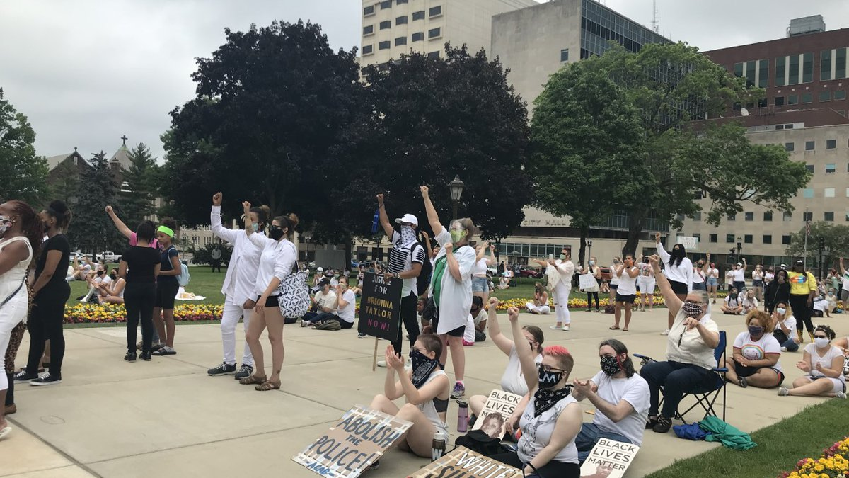 An event called 'Silent Sit in Against Racism' gathered at the State Capitol on Saturday....