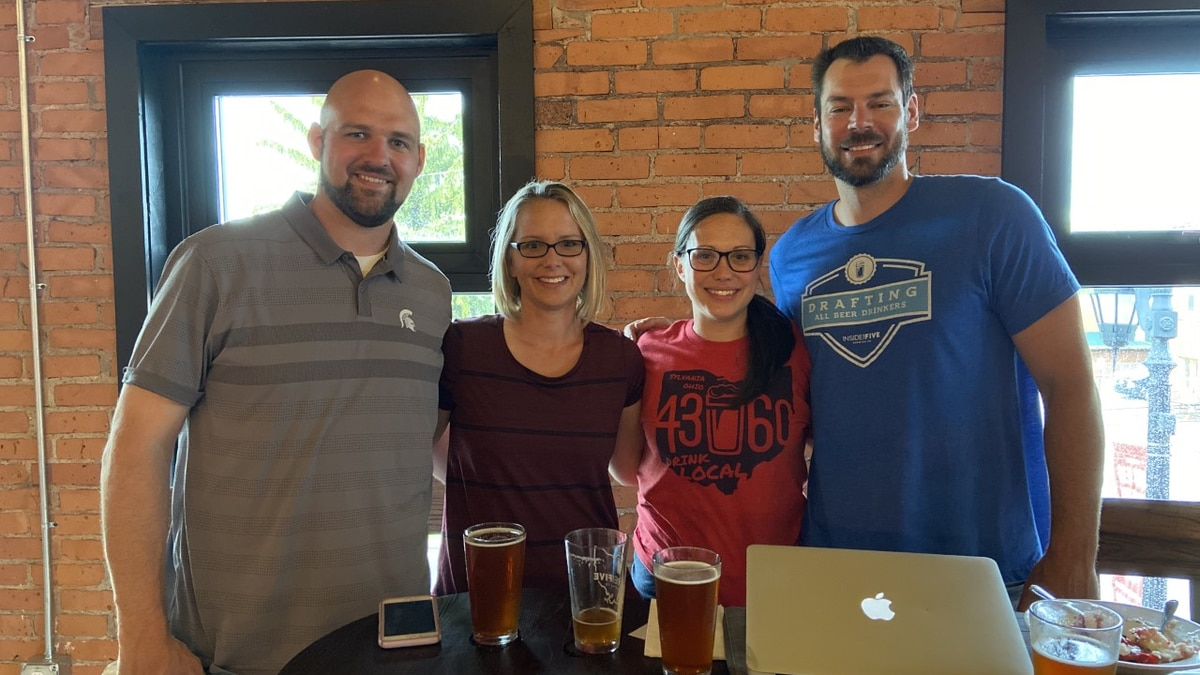 Former Michigan State football players Brandon Fields and Chris Morris have founded a brewery alongside Brandon's wife Katie after their NFL careers. Their brewery, Inside the Five Brewing Company, is based in Sylvania, Ohio.
