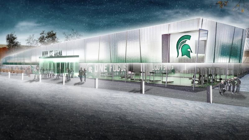 Munn Ice Arena is undergoing 22.2 million in renovations.